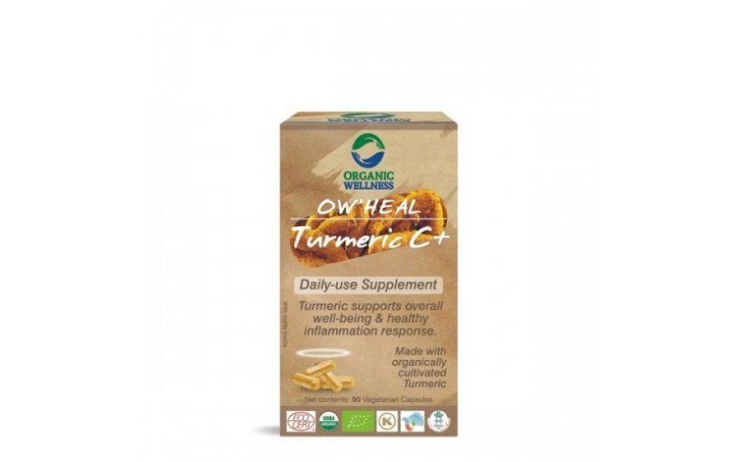 ORGANIC WELLNESS HEAL suplement TURMERIC C+ (kurkuma, imbir, pieprz) 90 kapsułek